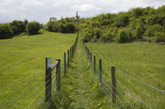 Public path. A public path across the countryside in England royalty free stock photos