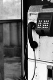 Public pay phones in white tone. Abandoned concept Royalty Free Stock Photos