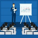 Public People Speaking From Podium Poster Royalty Free Stock Image
