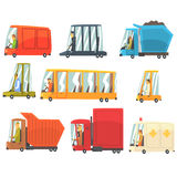 Public And Personal Transport Toy Cars And Trucks Set Of Childish Colorful Transportation Vehicles. Childish Vector Illustrations With Cute Cars And Bikes With Royalty Free Stock Photography