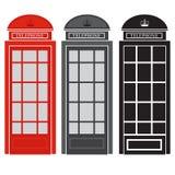 Public phone. Booth. vector illustration of british street telephone Stock Photos