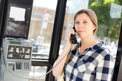 Public phone call Royalty Free Stock Photo