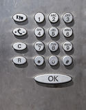 Public phone keyboard Royalty Free Stock Photo