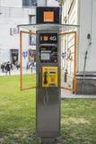 Public phone Orange Stock Images