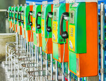 Public phone in Thailand. Royalty Free Stock Photo