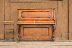 Public piano on a street in Prague Stock Photo