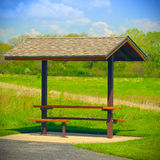 Public picnic shelter Royalty Free Stock Photo