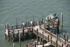 A Public Pier in Southern Florida Royalty Free Stock Photo