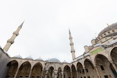 Public places A world heritage blue mosque in the historic city of Turkey.  royalty free stock photography