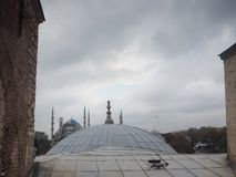 Public places A world heritage blue mosque in the historic city of Turkey.  royalty free stock image