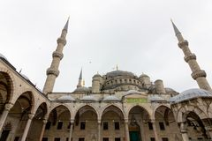 Public places A world heritage blue mosque in the historic city of Turkey.  stock photography