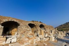 Public places A world heritage ephesus library in the historic city of Turkey.  stock images