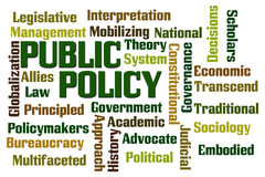 Public Policy. Word cloud on white background Royalty Free Stock Photography
