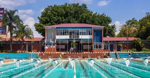 Public pool in Hatfield Pretoria 2. royalty free stock photo