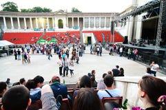 Free Public Preparation Before Bonobo S Concert Stock Image - 21531581