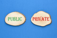 Public or Private concept royalty free stock photo