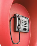 Public red phone macro. 3d illustration Royalty Free Stock Photography