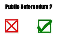 Public referendum - yes or no. Concept of illustration on public referendum - yes or no Royalty Free Stock Images