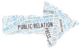 Public Relation. Information word cloud Stock Photos