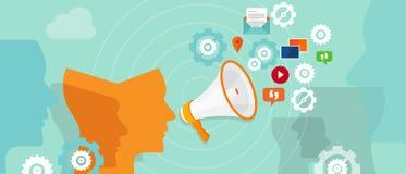 Public relation buzzer promotion spreading media. Buzzer online digital promotion spreading media marketing communication Stock Images