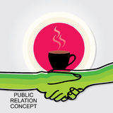 Public-relation-concept-shakehands-illustration Stock Photos