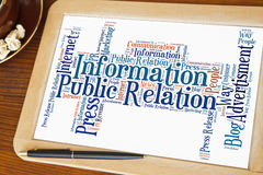 Public relation word cloud Stock Photos