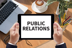 PUBLIC RELATIONS Royalty Free Stock Photos