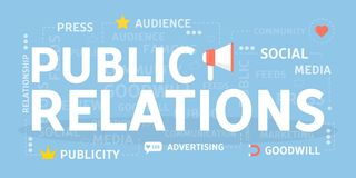 Public relations concept. Public relations concept illustration. Idea of politics and society Royalty Free Stock Photography