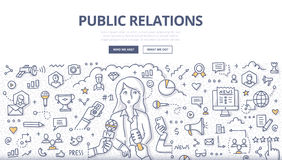 Public Relations Doodle Concept Stock Photos