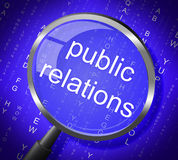 Public Relations Means Press Release And Magnification Stock Photos