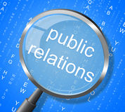 Public Relations Means Press Release And Magnification stock illustration