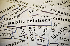 Public relations, PR. Words related with business