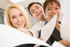 Public relations representatives Stock Images
