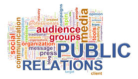 Public relations word tags Stock Photo