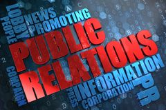 Public Relations. Wordcloud Concept. Stock Photos