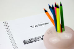 Public relationship book Royalty Free Stock Photos
