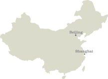 Public republic of China map Stock Images
