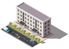 Public residential building isometry Stock Photos