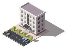 Public residential building isometry. Royalty Free Stock Photo