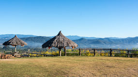The public rest-house at Yun Lai Viewpoint  located in Mae Hong Sorn, Thailand.  Royalty Free Stock Photography