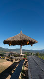 The public rest-house at Yun Lai Viewpoint  located in Mae Hong Sorn, Thailand.  Royalty Free Stock Photo