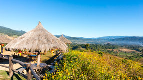 The public rest-house at Yun Lai Viewpoint  located in Mae Hong Sorn, Thailand.  Stock Images