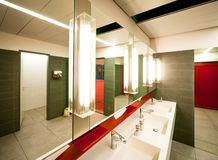 Public restroom. Modern public restroom in london Royalty Free Stock Images