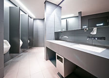 Public restroom. Modern public restroom for men Royalty Free Stock Photos