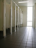 Public Restroom. Clean public restroom with a lot of light Royalty Free Stock Image