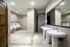 Public restroom interior Royalty Free Stock Images