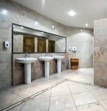 Public restroom interior Stock Photo