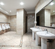 Public restroom interior Royalty Free Stock Photography