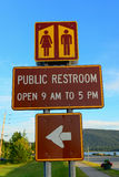 Public restroom sign Stock Image