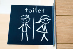 Public restroom signs with a man and lady symbol Royalty Free Stock Photography